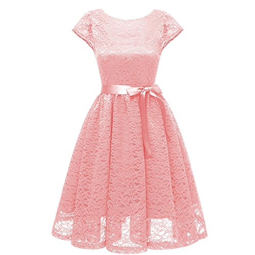 Quaan Frau Jahrgang Prinzessin Kleid Blumen Oben Cocktail V-Ausschnitt Party Eine Linie Swing Kleid...