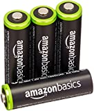 AmazonBasics AA Pre-Charged Rechargeable Batteries 2000 mAh / minimum: 1900 mAh [Pack of 4] - Outer Jacket May Vary
