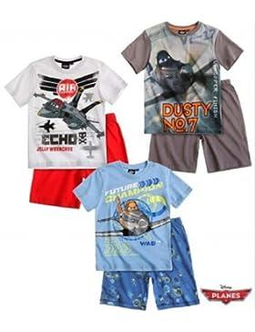 Disney Planes - Jungen Sommer 2-Teiler Schlafanzug Pyjama Shorty kurz 2 Typen
