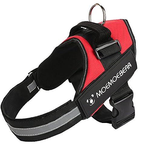 Longwu Dog Safety Vest Harness,Pet Dog Adjustable Mesh Harness Explosion-proof Travel Strap Vest,Please Measure Dog before