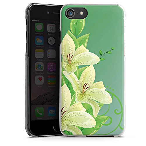 Apple iPhone X Silikon Hülle Case Schutzhülle Lilie Blume Lilly Hard Case transparent