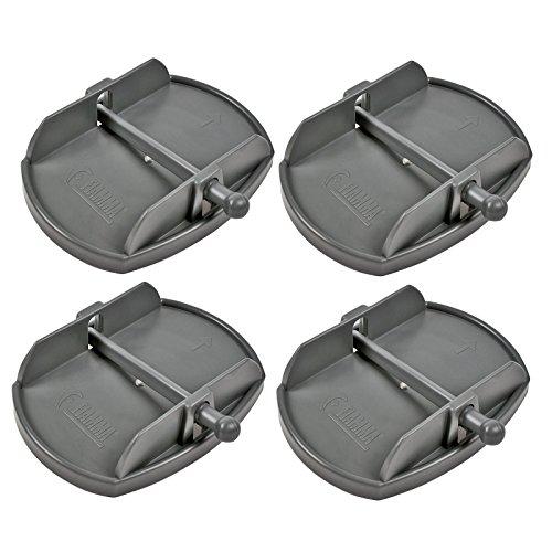Fiamma Stützplatten Set 4 Stück für Kurbelstützen passend an Wohnwagen und Wohnmobil