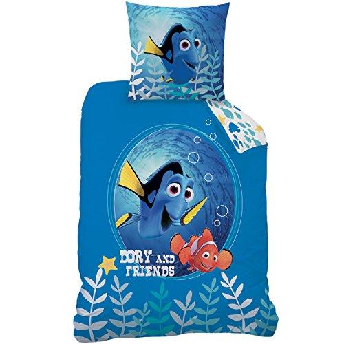 Disney Nemo 043631 Bettwäsche Dory und Friends, Baumwolle Renforce, 135 x 200 + 80 x 80 cm