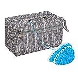 dmc-gomitolo organizer bag, Portable sturdy grande, a maglia, con 4 occhielli in largo stop grovigli, quilting progetto del sacchetto per lavoro a maglia, crochet, cucito,tessitura Tool