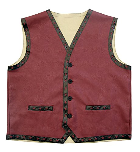 The Warriors Gang Kostüm Leather Vest Jacket and Bandana (Erwachsener Small/Medium)