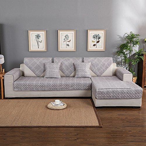 Forcheer copridivano angolare trapuntato divani con penisola disegno chaise longue copridivano seduta sofa cover (70*70 cm, pattern #jd)