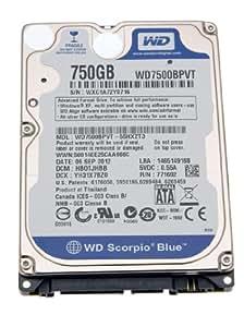 """Dell disque dur pour ordinateur portable asus n73 serie 2,5 """"750Go sATA iI"""