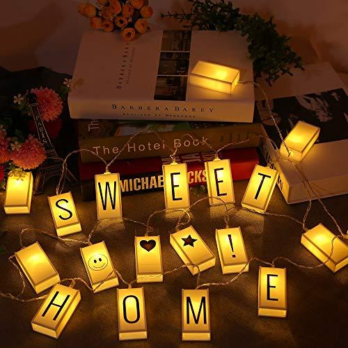 20 LED-Buchstaben-Leuchtkästen-String Aa Batteriebetriebene 2M LED-Schnur-Licht-Feiertags-Beleuchtung Für Partei-Innenbeleuchtung B - Die Partei Geld-baum Für