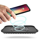 AYOUYA 3 Bobine Caricatore Wireless QI Fast Charge Ricarica Veloce 10W Caricabatterie Rapido senza Fili da Auto Tavolo per Samsung Iphone Lumia Impermeabile Nero