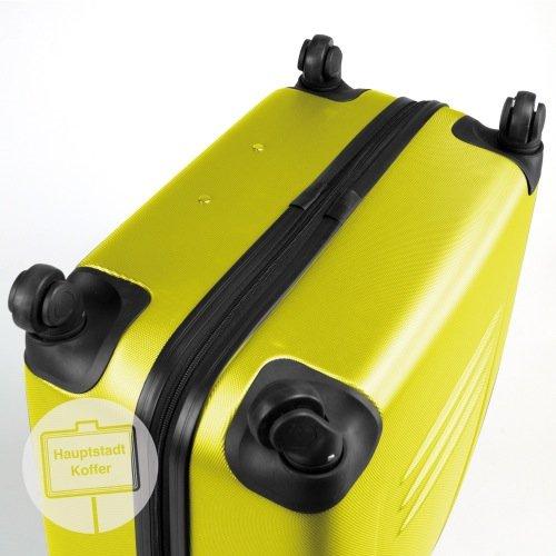 HAUPTSTADTKOFFER® 2x 67 Liter (ca. 66 x 45 x 24) · Hartschalenkoffer · Modell: WEDDING HK-1209 · TSA Schloss · verschiedene Farben erhältlich (Burgund Matt) Gelb Matt