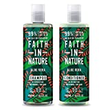 Faith in Nature Aloe Vera Shampoo and Conditioner, 400 ml