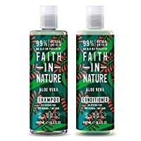 Faith in Nature Aloe Vera Shampoo 400ml and Conditioner 400 ml (Packaging May Vary)