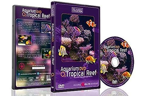 Aquarium DVD | TROPISCHES RIFF mit 4K ULTRA HD Download mit Natürlichen Geräuschen und Entspannender (Collection 4 Dvd-set)