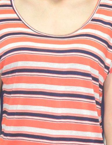 Femmes Crew-Neck Manches de Split Retour T-shirt / T Multicolore