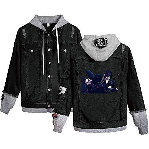 Anime Black Butler Hoodie Cosplay Hoodie Jacke Kostüm jacket Ciel Phantomhive Fans tägliche Freizeit Tops Mäntel Shirt Sweatshirt für Männer Frauen,Blackashb,S