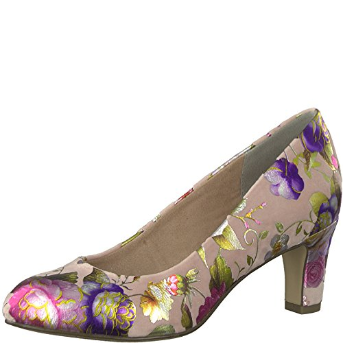 Tamaris 1-1-22418-20 Damen Pumps, Sommerschuhe für Die Modebewusste Frau Rosa (Rose Flower), EU 38 (Rosa Schuhe Kleid)