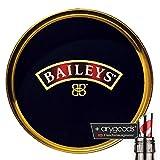 Baileys Glas/Gläser Servier Kellner Tablett Antirutsch Teller Gastro Bar Deko + anygoods Flaschenausgiesser