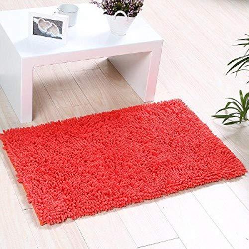 Tiwosan Tür Teppich Hause saugfähigen pedalen Haushalt badezimmertür kleine Matte Veranda Halle türmatte rutschfeste Latex unten-rot_160 * 230 cm