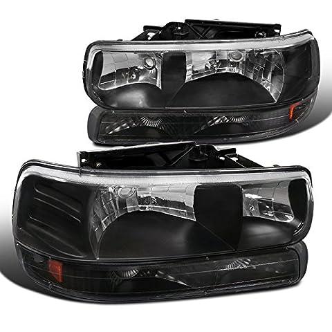 Chevy Silverado tahoe suburban Lt Ltz Ls Black Headlights, Bumper Lights