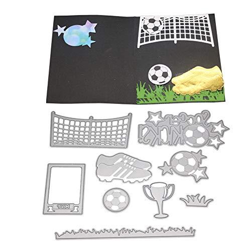KimcHisxXv Schneideisen, Soccer Ball Sneaker Bowl Metall Schneideisen DIY Scrapbooking Pr?geschablone - Silber - Beliebten Sneakers