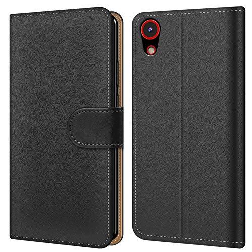 Conie BW5667 Basic Wallet Kompatibel mit HTC Desire 628, Booklet PU Leder Hülle Tasche mit Kartenfächer & Aufstellfunktion für Desire 628 Case Schwarz