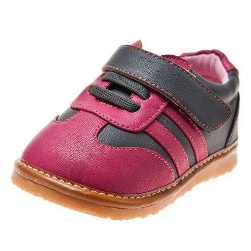 Little Blue Lamb Chaussures à sifflet Fille | Baskets Rose et Grise - Pointure: 24