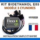 Kit Ethanol Flex Fuel - E85 - Bioethanol - 3 Cylindres + Interface de Diagnostic ELM327 - Compatible avec Renault, Peugeot, Citroen, Ford, BMW, Audi. (Honda)