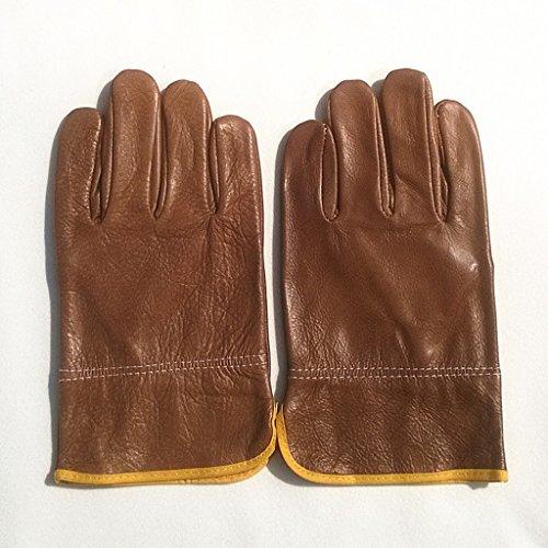 Schweißer Schweißhandschuhe Isolierte Flammhemmende Feuerfeste Linien Erweiterter Schutz Tragbare Hochtemperaturschweißhandschuhe (Isolierte Leder-arbeits-handschuhe)