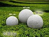 Kugelleuchte, Gartenkugel, GlowGranite, 35cm, 10221