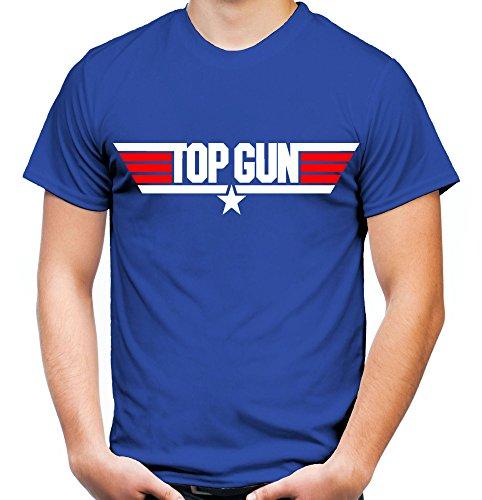 Top Gun Männer und Herren T-Shirt | Spruch Maverick Tom Cruise Geschenk | M1 (L, Blau)