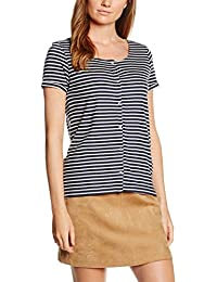 Tom Tailor Denim Striped Shirt W. Placket, T-Shirt Femme