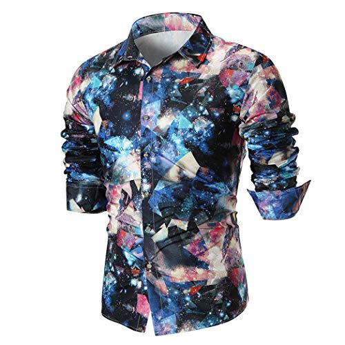 MRULIC Herren Shirt Kentkragen Langarm Shirts Businesshemd