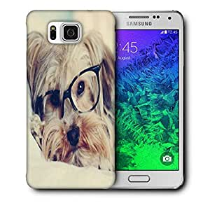 Snoogg Cute Dog With Glasses Printed Protective Phone Back Case Cover For Samsung Galaxy SAMSUNG GALAXY ALPHA