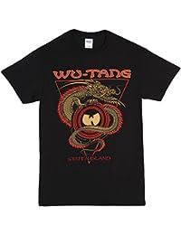 Wu-Tang Clan–Camiseta de Staten Island de dragón negro (Tamaño Grande)...