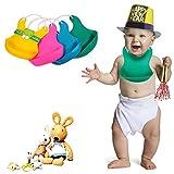 #8: Buy 1 Get 1 Free Baby Bibs/Waterproof Baby Bibs/Silicon Baby Bibs-Luvina