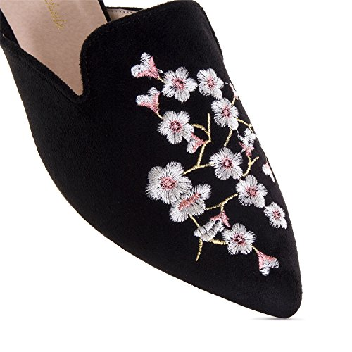 Andres Machado AM5249.Chaussures Grises Ouvertes à l´Arrière.Pour Femmes.Grandes Pointures 42/45 Noir