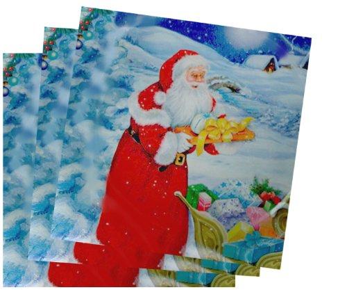 Servietten Weihnachtsschlitten, 6 Pack zu 20 Stück
