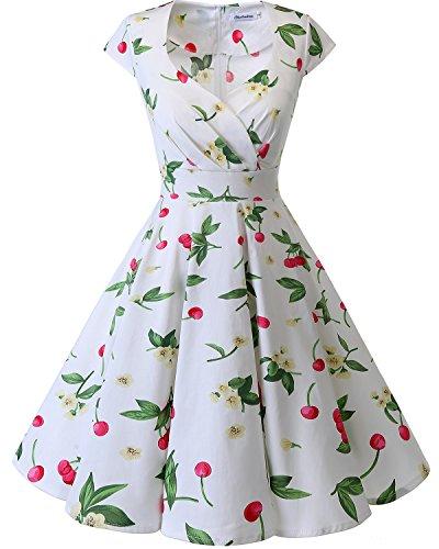 Bbonlinedress Vestido Corto Mujer Retro Años 50 Vintage Escote...