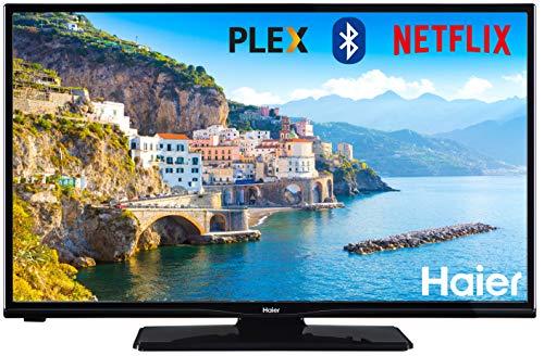 "Haier LDH32V280S TV da 32"", HD+, Smart TV, Wi-Fi, Bluetooth, DVB-T2 (Netflix, HD+, A+, 16:9, colore nero)"