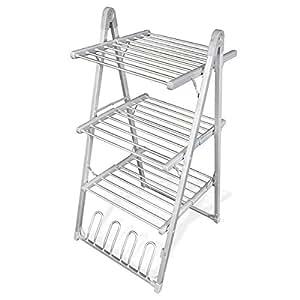 tendoir linge lectrique et chauffant s choir 3 tages 30 barres cuisine maison. Black Bedroom Furniture Sets. Home Design Ideas