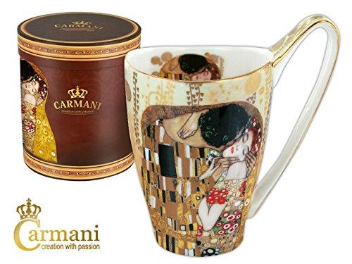 Gustav Klimt Schöne sehr große Tasse Becher ' Kuss ' Carmani Art Gallery 500ml
