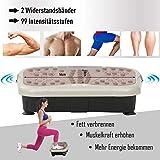 HOMCOM Vibrationsplatte Vibrationstrainer Vibrationsgerät Fitnesstrainer LED-Anzeige USB-Lautsprecher Trainingsbänder Fernbedienung - 3