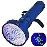 Linterna ultravioleta con luz negra UV, super brillante, 100 LED, mejor potente, 395 NM, luz ultravioleta, detector de orina para casa, inspección de hotel, detección de orina de mascotas y manchas
