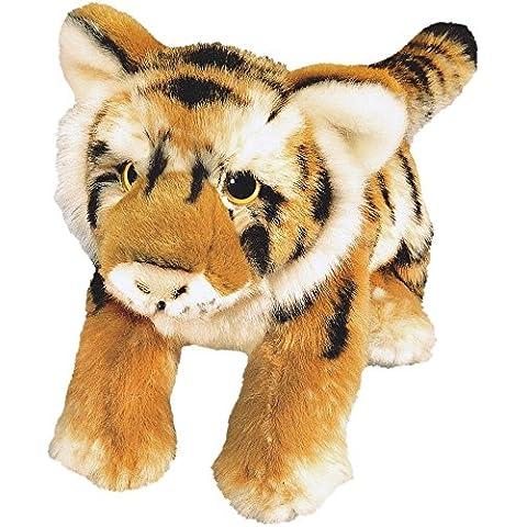 Blickfänger 14146 - Peluche Jaquard Tiger Lying, 23 cm