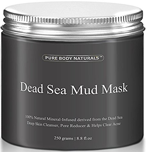 THE BEST Dead Sea Mud Mask, 250g/ 8.8 fl. oz. - Dead Sea Mud Mask Best for Facial Treatment, Minimizes Pores, Reduces Wrinkles, and Improves Overall Complexion - Dead Sea Minerals Help to Pull Toxins Out of the Skin - Facial Mask Provides Relief from