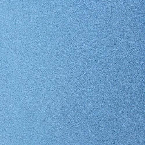 #11 Etérea Teddy Flausch Kinder-Spannbettlaken, Spannbetttuch, Bettlaken, 18 Farben, 60×120 cm – 70×140 cm, Hellblau - 3