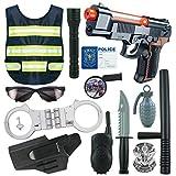 Gettesy 13Pz Disfraz Policia Niño Juguetes - Equipamiento básico de...