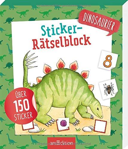 Sticker-Rätselblock Dinosaurier (Dinosaurier-sticker-buch)