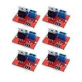 Modulo driver MOS del pulsante IRF520 alto pulsante 0-24 V per Arduino MCU BRAS Lampone Pi 6 Pack
