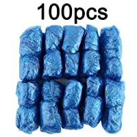 100Pcs/Set Disposable Plastic Shoe Covers Rooms Outdoors Waterproof Rain Boot Carpet Clean Hospital Overshoes Shoe Care Kits(blue) Jasnyfall